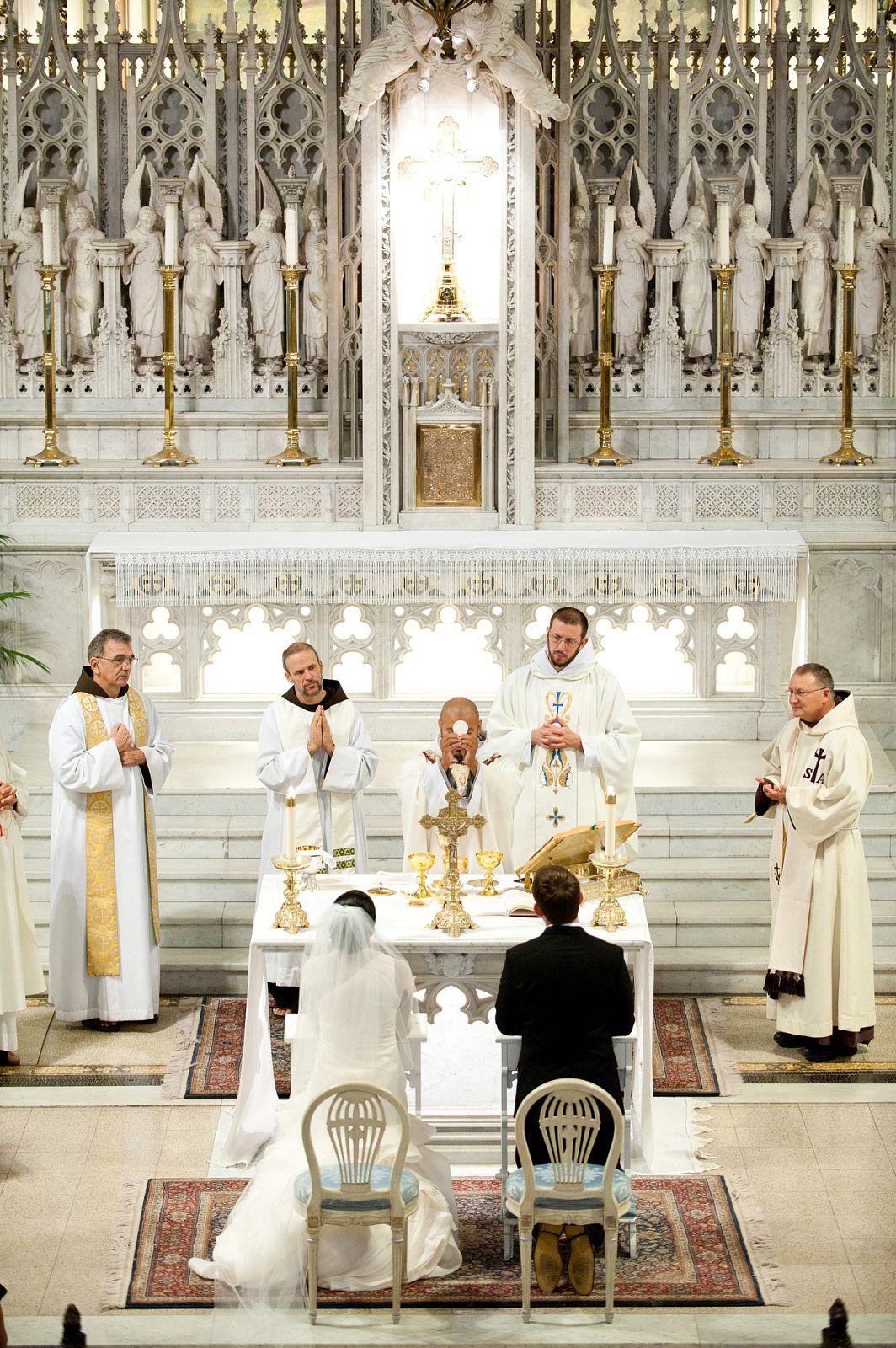 Catholic religion wedding