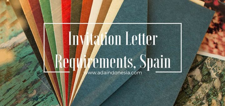 Invitation letter requirements spain ada indonesia invitation letter stopboris Choice Image