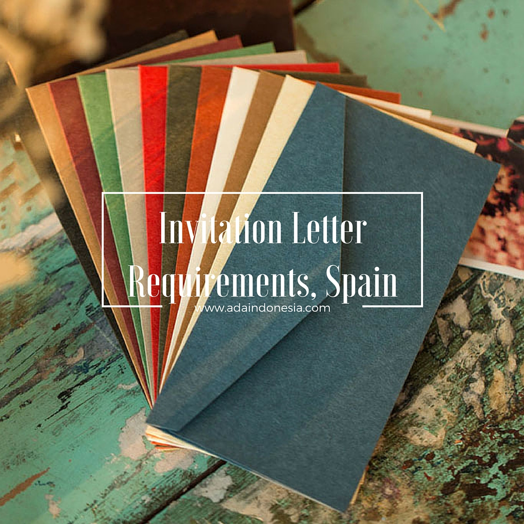 Invitation letter requirements spain ada indonesia stopboris Image collections