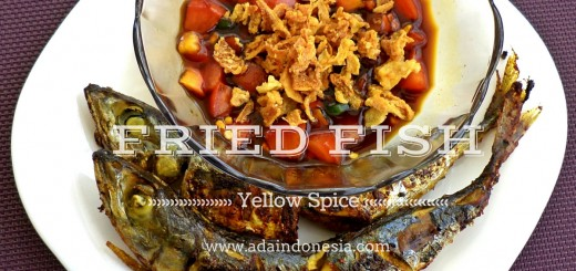 fried fish in yellow spice