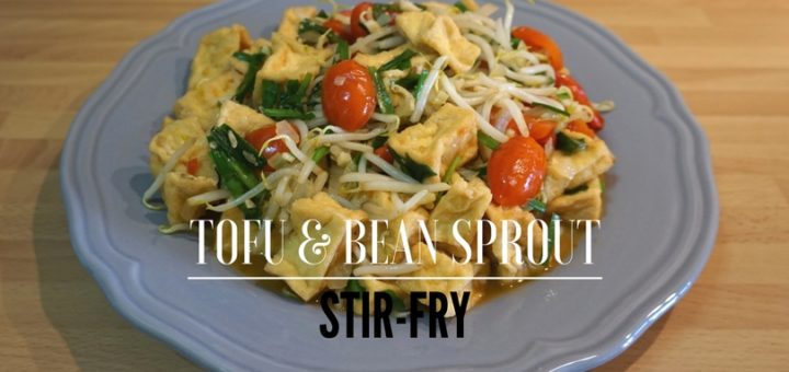 Tofu & Bean Sprout Stir Fry