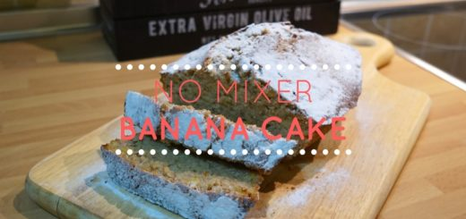 No Mixer Banana Cake